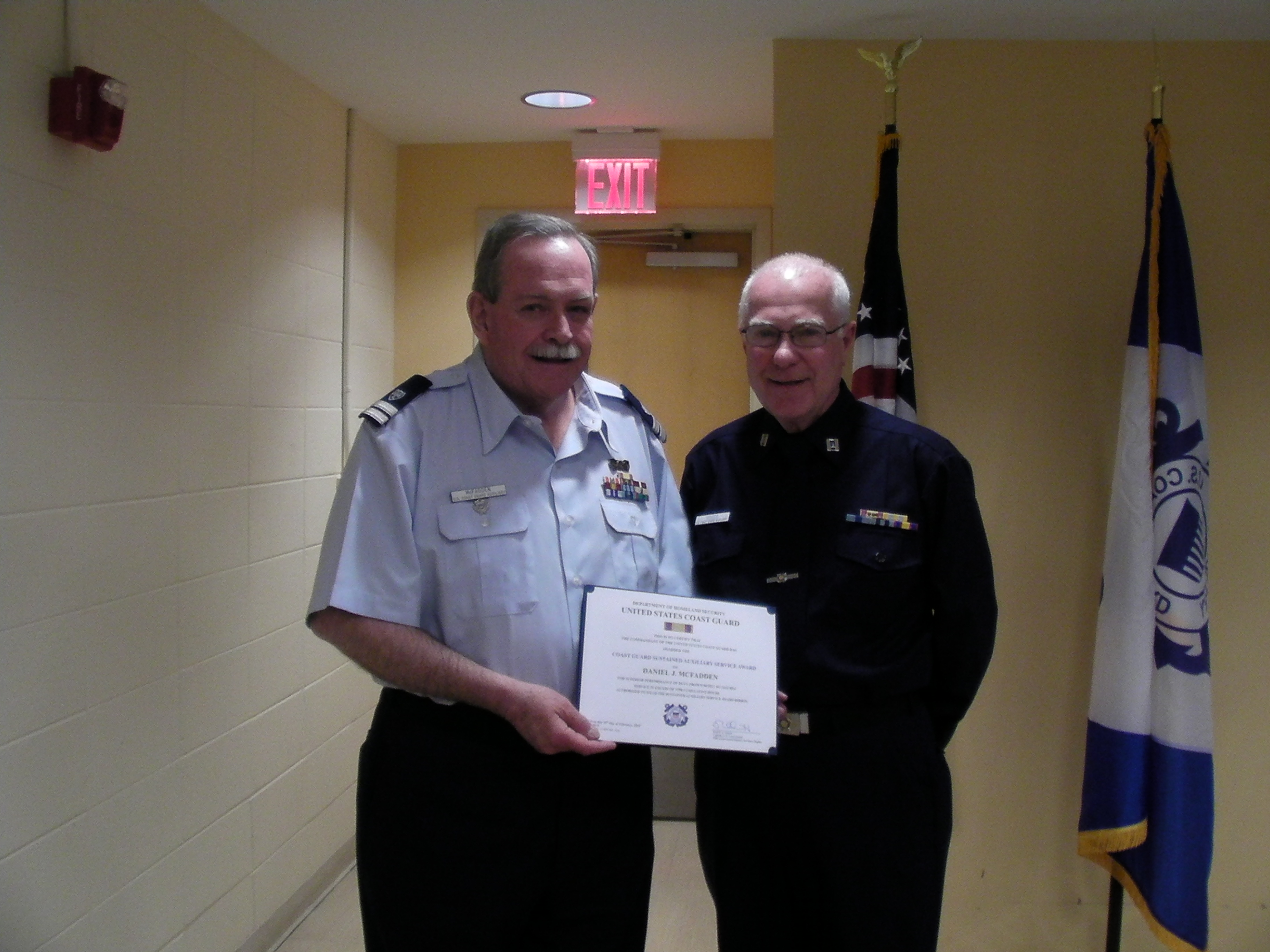 FC Moose presents Dan McFadden with the Sustained Auxiliary Service Award
